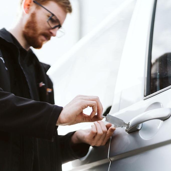 qualified locksmith unlocking vehicle in tasmania